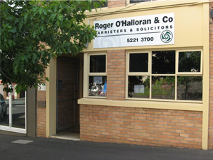 Roger O'Halloran & Co barristers and solicitors Geelong office